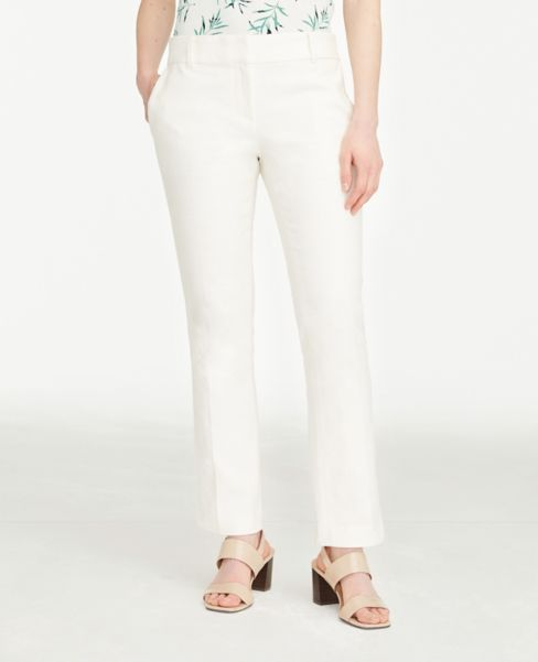 Ann Taylor Curvy Textured Straight Leg Pants