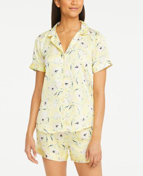 Ann Taylor Floral Silky Pajama Top