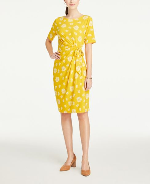 Ann Taylor Floral Side Tie Dress
