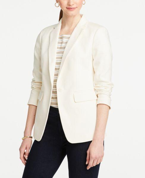 Ann Taylor Petite Textured Long Blazer