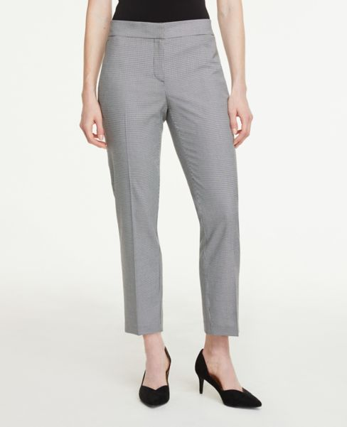 Ann Taylor Petite Signature Ankle Pants in Houndstooth