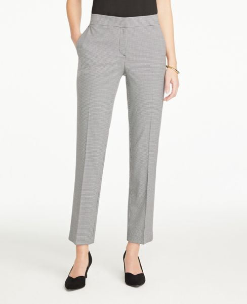 Ann Taylor Petite Curvy Ankle Pants in Houndstooth