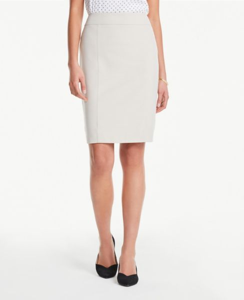 Ann Taylor Petite Seamed Pencil Skirt in Neutral