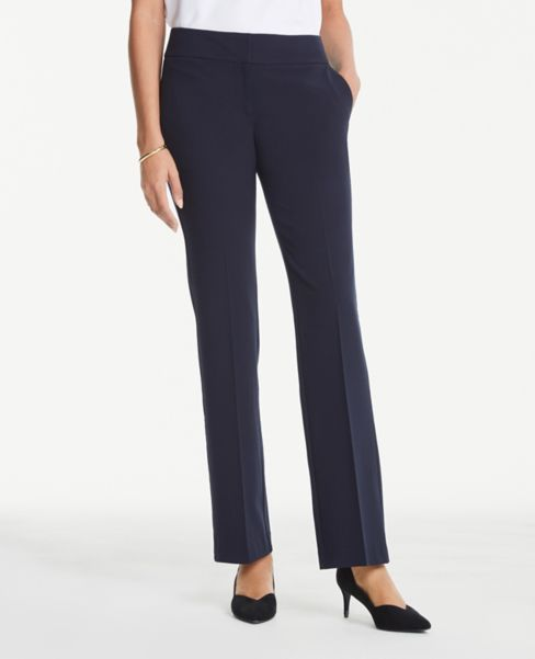 Ann Taylor Curvy Trousers in Navy