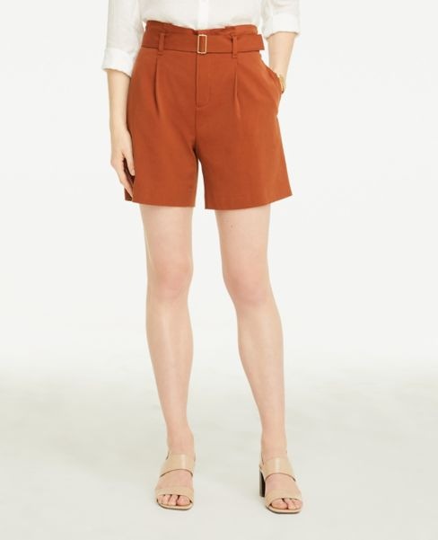 Ann Taylor Belted Shorts