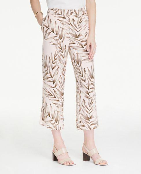 Ann Taylor Petite Leafed Drapey Pants