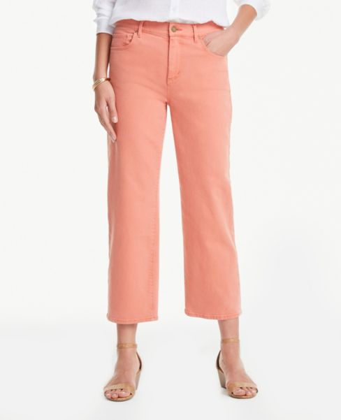 Ann Taylor Slim Wide Leg Jeans in Sunbaked Clay