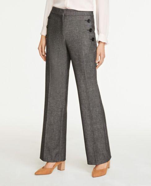 Ann Taylor Petite Curvy Sailor Flare Pants