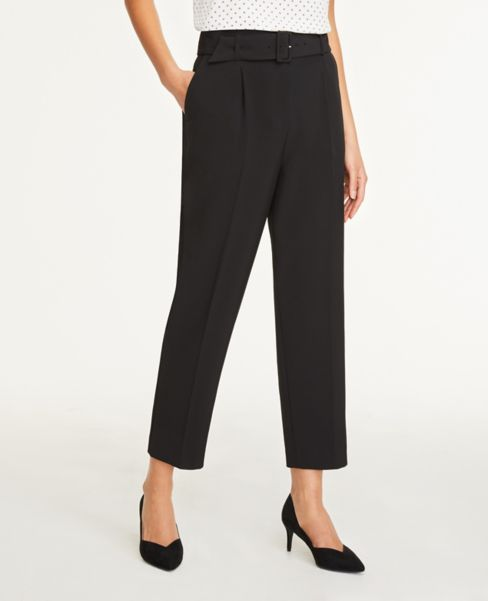Ann Taylor Petite Belted Ankle Pants