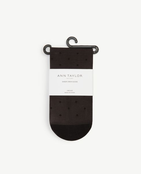 Ann Taylor Dot Sheer Crew Socks