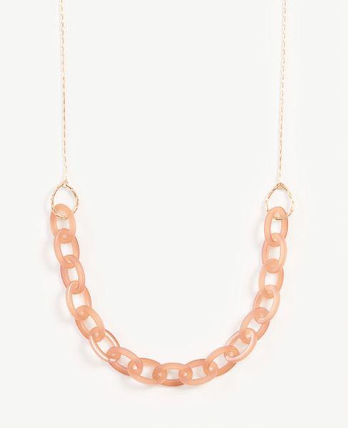 Ann Taylor Acetate Link Necklace
