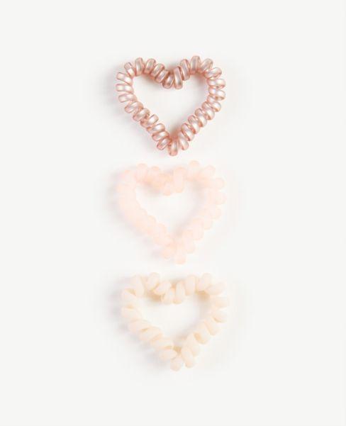 Ann Taylor Heart Hair Coil Set