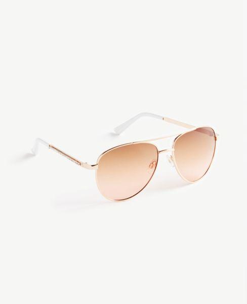 Ann Taylor Sparkle Aviator Sunglasses