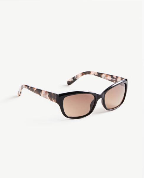Ann Taylor Floral Trim Wrap Sunglasses