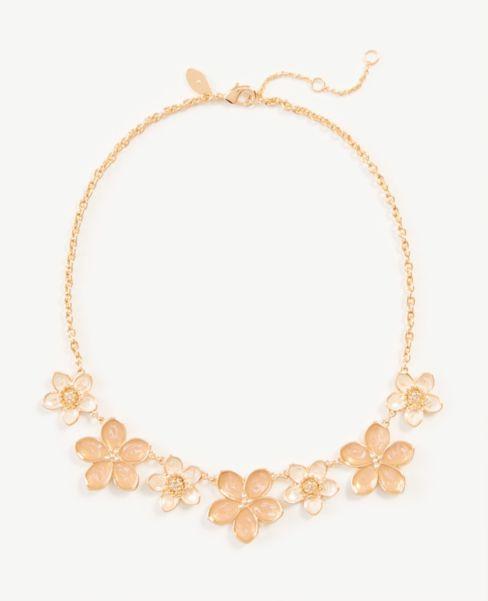 Ann Taylor Enamel Floral Statement Necklace
