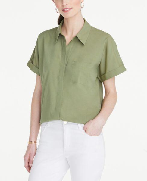 Ann Taylor Soft Pocket Shirt
