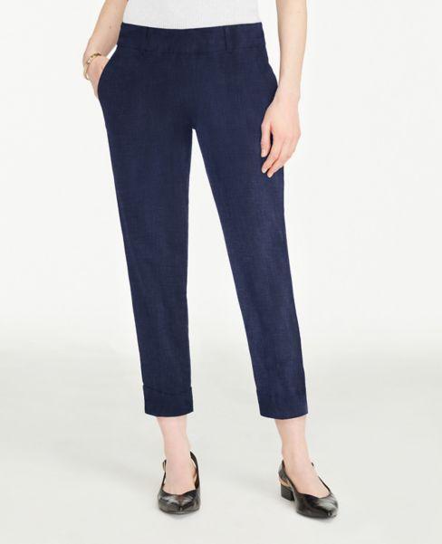 Ann Taylor Curvy Polished Denim Crop Pants