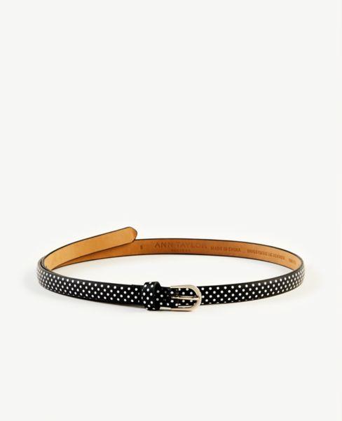 Ann Taylor Polka Dot Skinny Belt