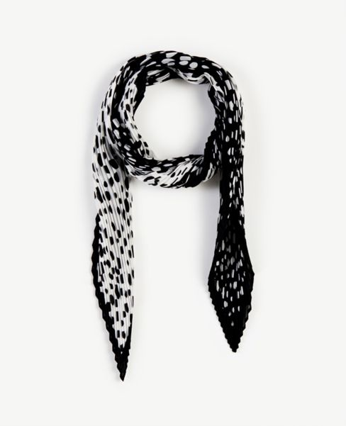 Ann Taylor Spotted Pleated Scarf