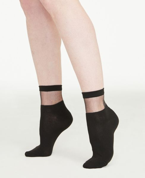 Ann Taylor Sheer Cutout Ankle Socks