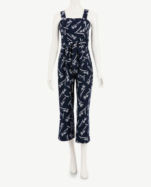 Ann Taylor Pineapple Square Neck Jumpsuit