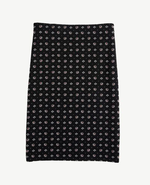 Ann Taylor Bandana Floral Pull On Pencil Skirt