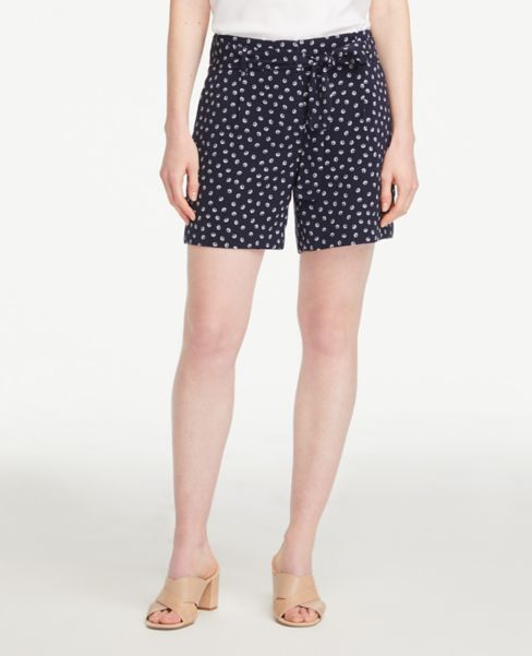 Ann Taylor Shell Tie Waist Shorts