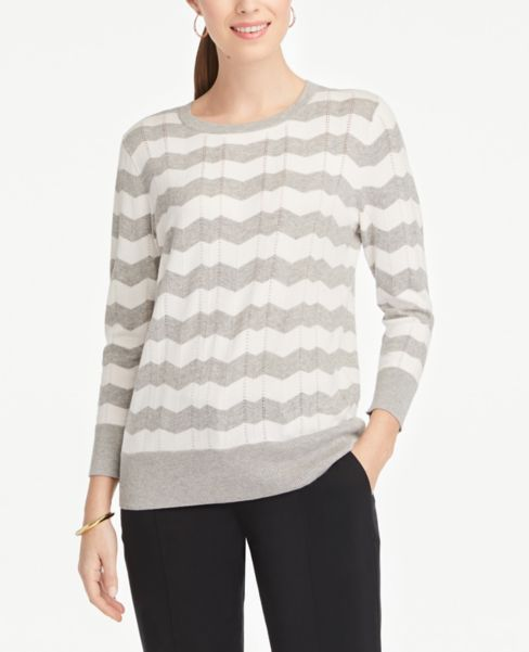 Ann Taylor Chevron Stripe Sweater