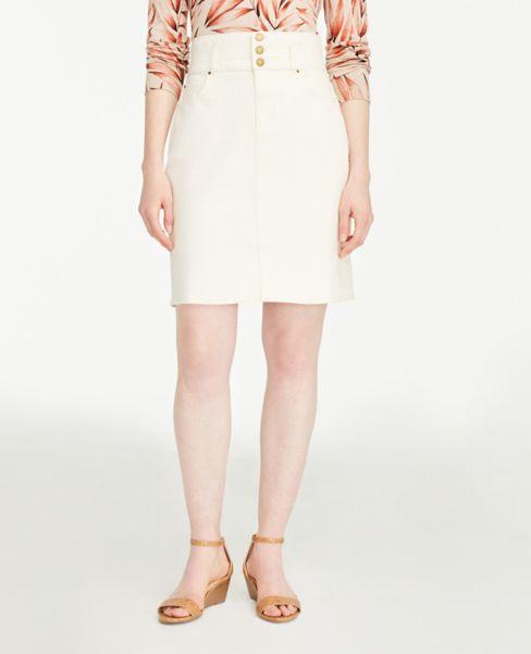 Ann Taylor High Waist Denim Pencil Skirt