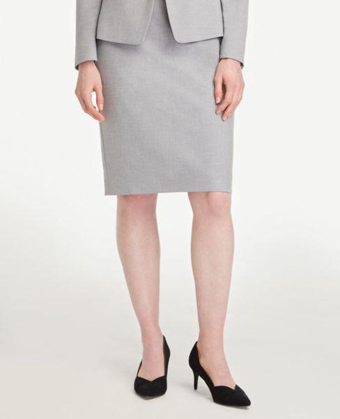 Ann Taylor Petite Pencil Skirt in Light Grey