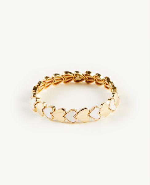 Ann Taylor Heart Stretch Bracelet