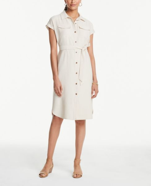 Ann Taylor Tab Sleeve Shirtdress
