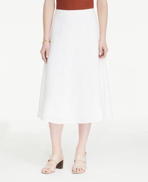 Ann Taylor Petite A-Line Midi Skirt