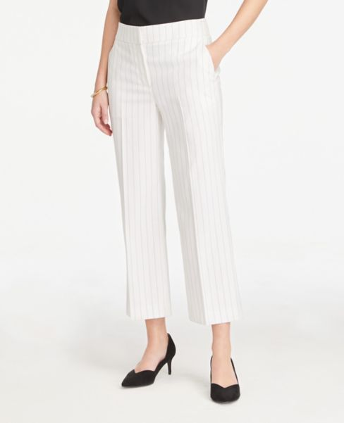 Ann Taylor Petite Striped Wide Leg Pants