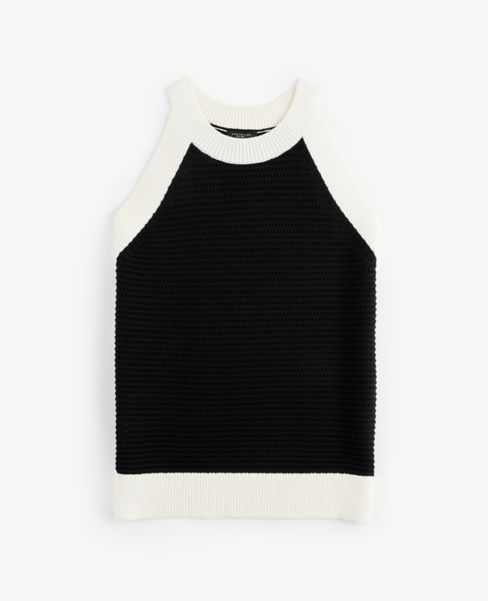 Ann Taylor Colorblock Halter Sweater
