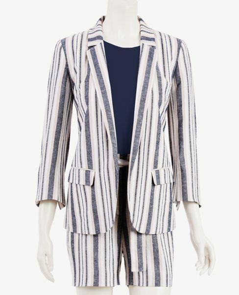 Ann Taylor Striped Open Blazer
