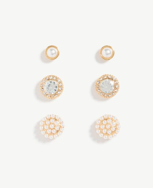 Ann Taylor Pave Stud Earring Set