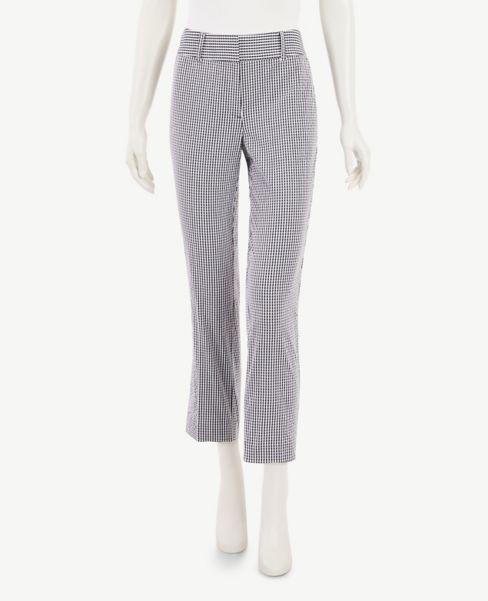 Ann Taylor Gingham Seersucker Slim Crop Pants