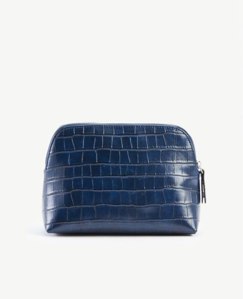 Ann Taylor Embossed Cosmetic Case