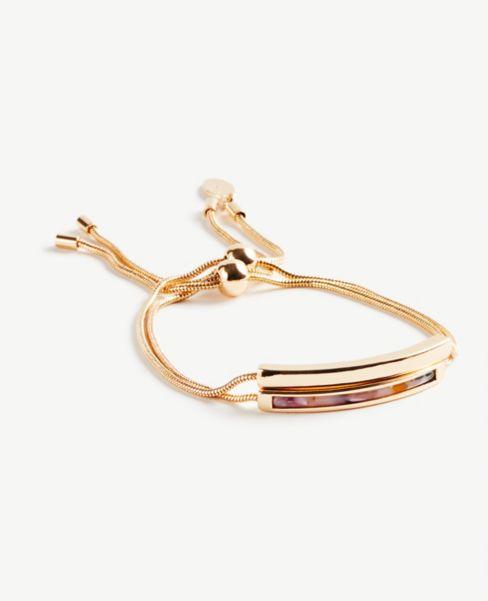 Ann Taylor Tortoiseshell Print Pull Tie Bracelet Set