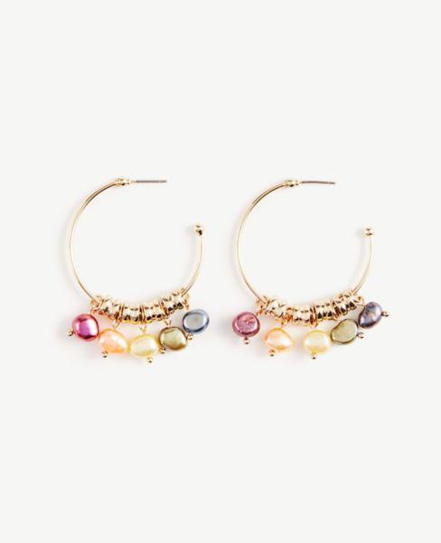 Ann Taylor Pearlized Drop Earrings