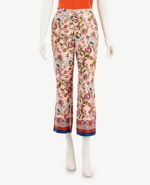 Ann Taylor Border Floral Pull On Pants