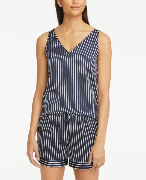 Ann Taylor Striped Silky Pajama Tank