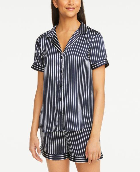 Ann Taylor Striped Silky Pajama Top