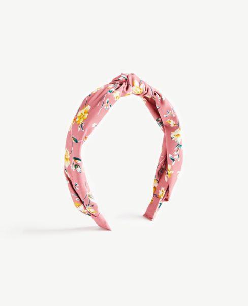 Ann Taylor Floral Top Knot Headband