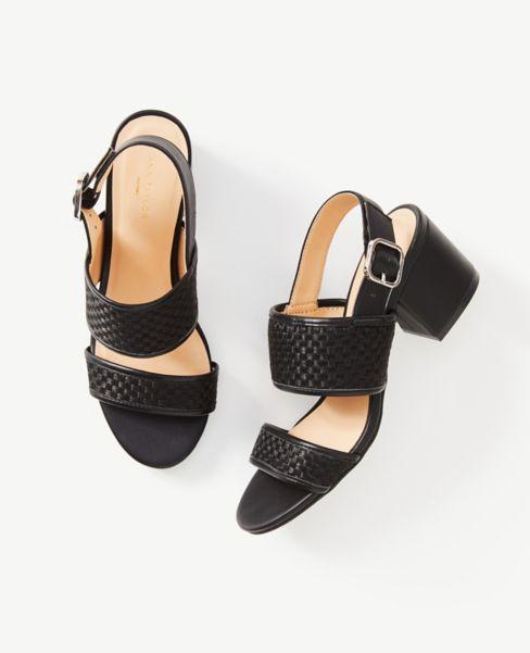 Ann Taylor Strappy Block Heel Sandals