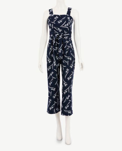 Ann Taylor Petite Pineapple Square Neck Jumpsuit