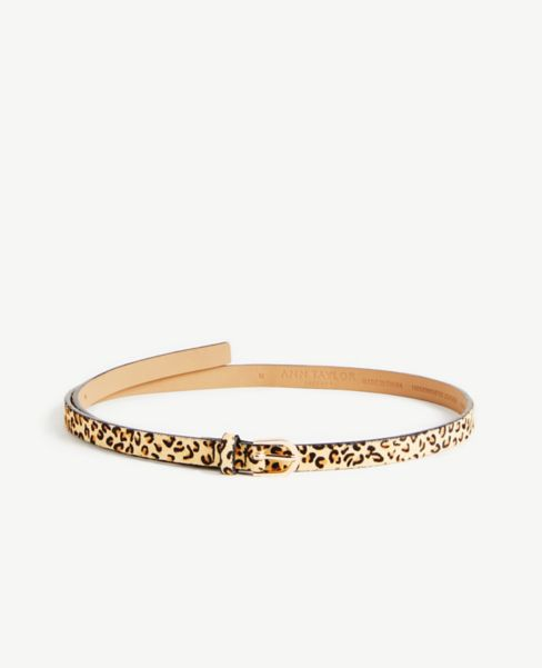 Ann Taylor Cheetah Print Skinny Belt