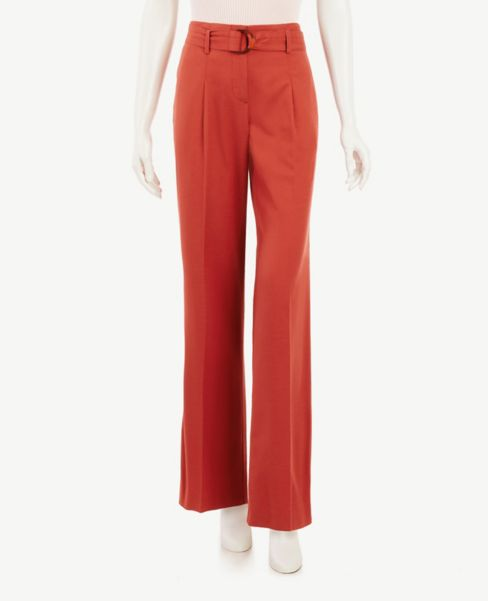 Ann Taylor Petite Belted Trouser Pants