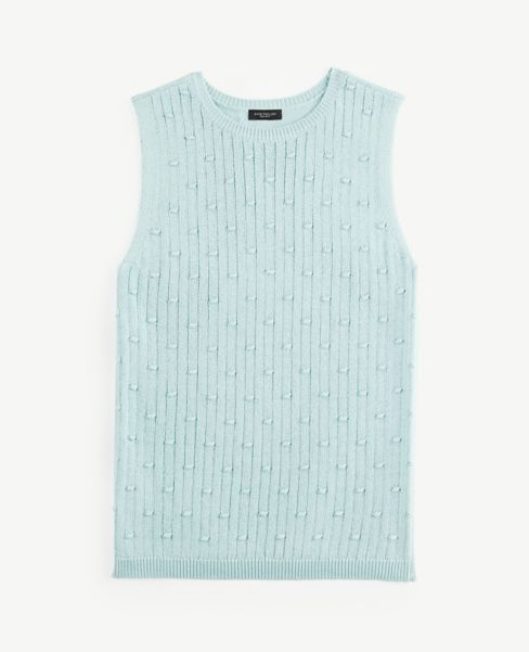 Ann Taylor Bobble Sweater Tank